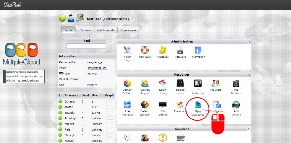 cloudpanel-create-database